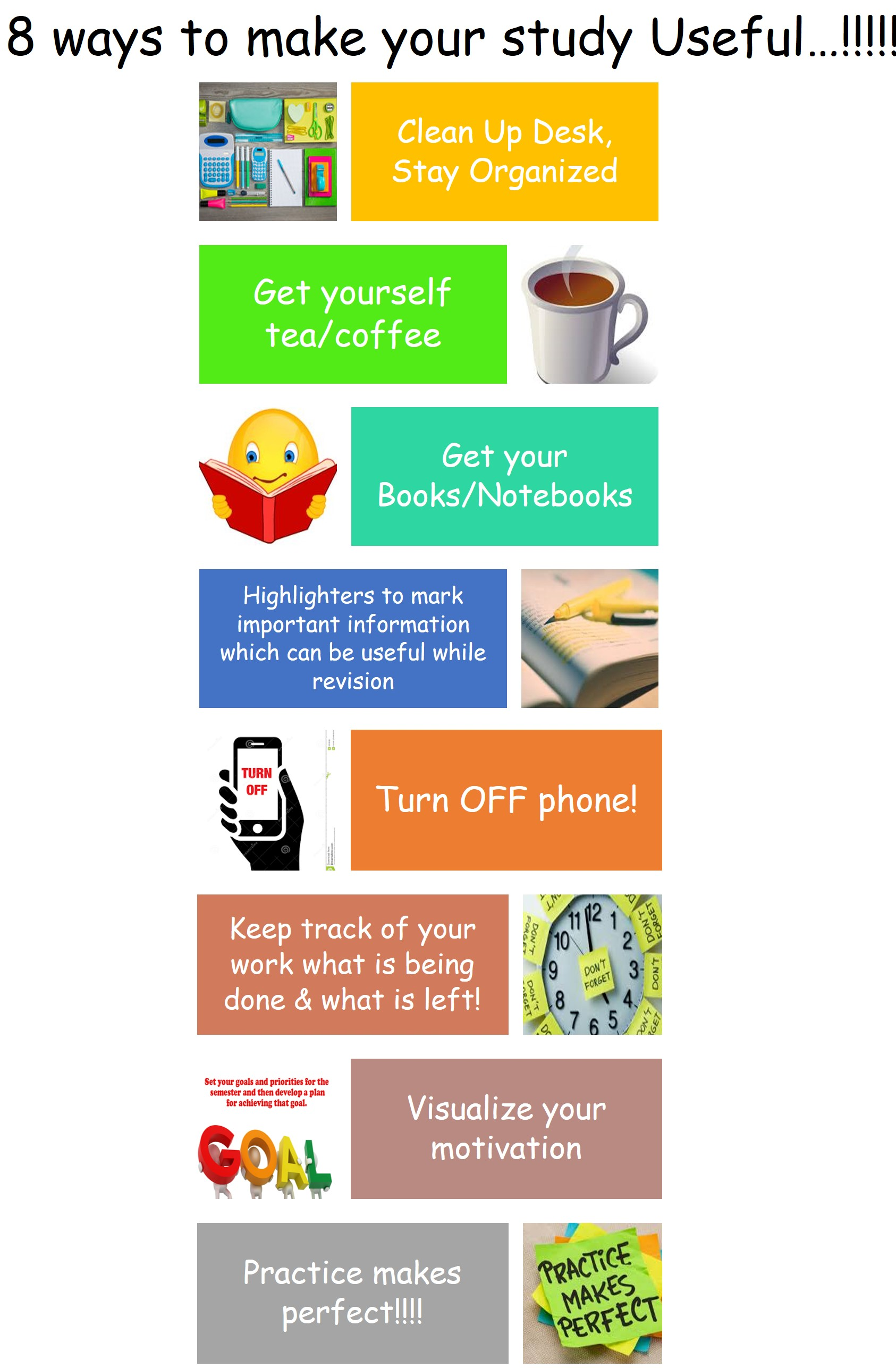 8 ways to make your Study Useful.!!! Infographics