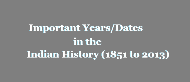 Important Dates In History Pdf