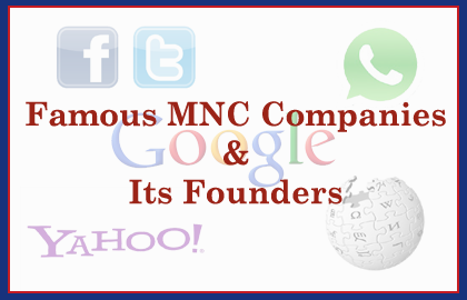 List of Famous Companies and their Founders