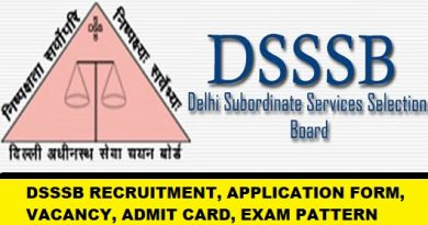 DSSSB Recruitment 2019