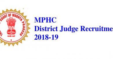 MPHC District Judge Recuitment