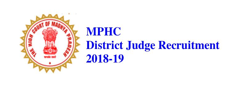MPHC District Judge Recuitment