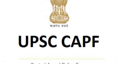 UPSC CAPF 2019
