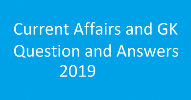 current affairs and GK question and answers 2019