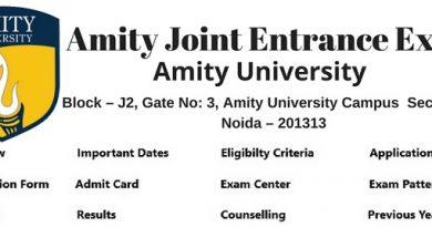 AMITY JEE 2019