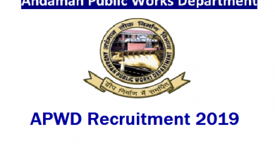 APWD Recruitment 2019