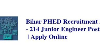Bihar PHED Recruitment 2019