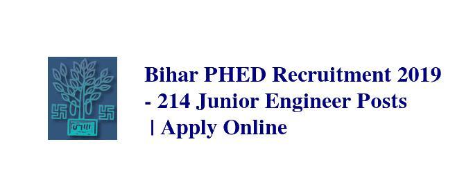 Bihar PHED Recruitment 2019