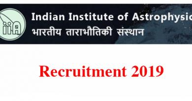 IIAP Banglore Recruitment 2019