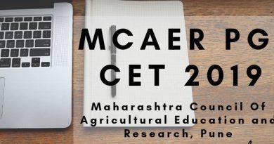 MCAER PG CET 2019
