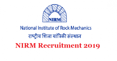 NIRM Recruitment 2019