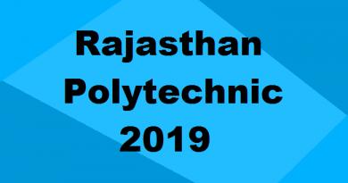 Rajasthan Polytechnic 2019