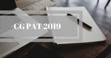CG PAT 2019