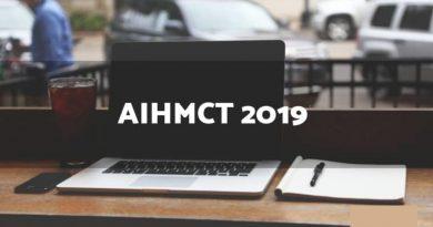 AIHMCT WAT 2019