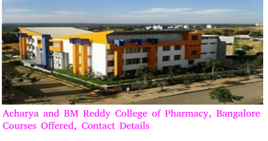 Acharya and BM Reddy College of Pharmacy, Bangalore