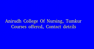 Anirudh College Of Nursing, Tumkur - Courses offered, Contact details