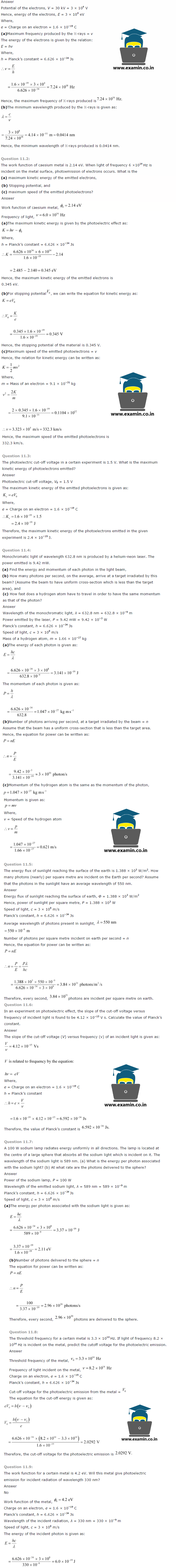 NCERT Solutions Class 12 Physics Chapter 11 – Download PDF