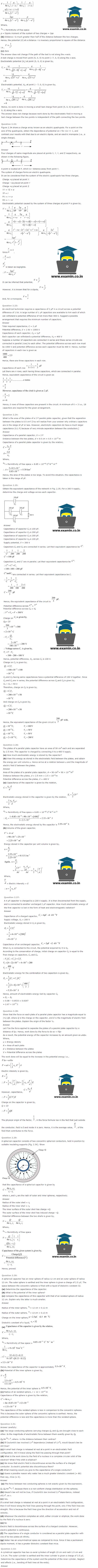 NCERT Solutions Class 12 Physics Chapter 2