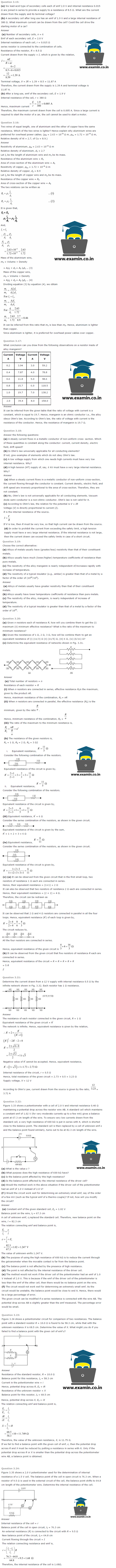 NCERT Solutions Class 12 Physics Chapter 3