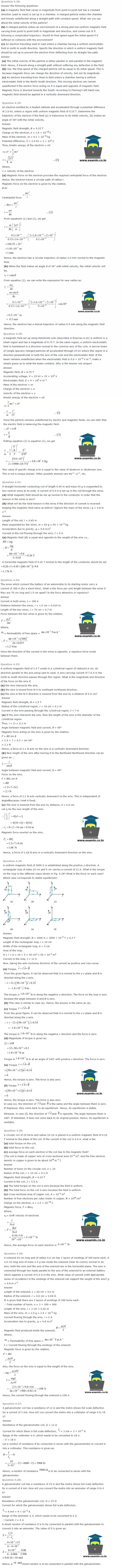NCERT Solutions Class 12 Physics Chapter 4