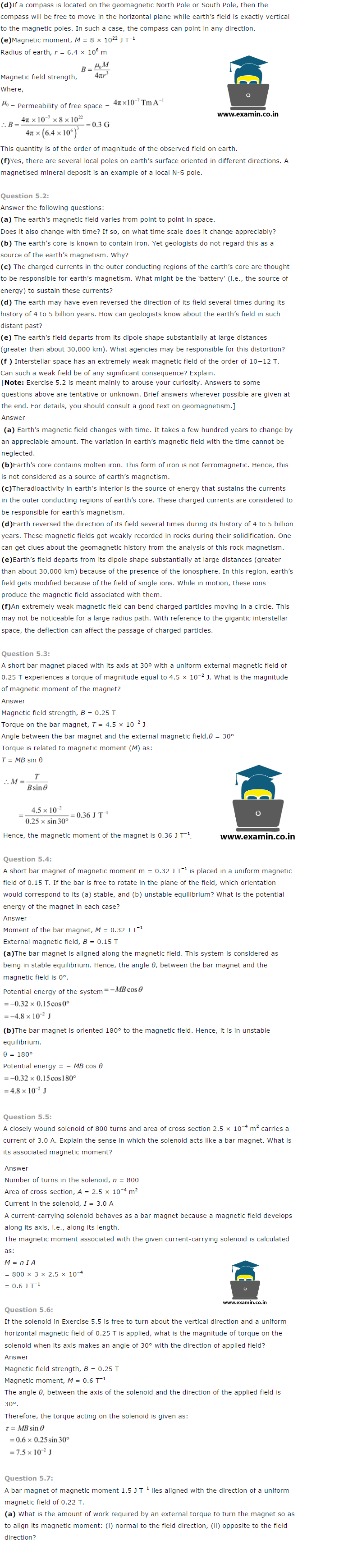 NCERT Solutions Class 12 Physics Chapter 5 – Download PDF | Blog