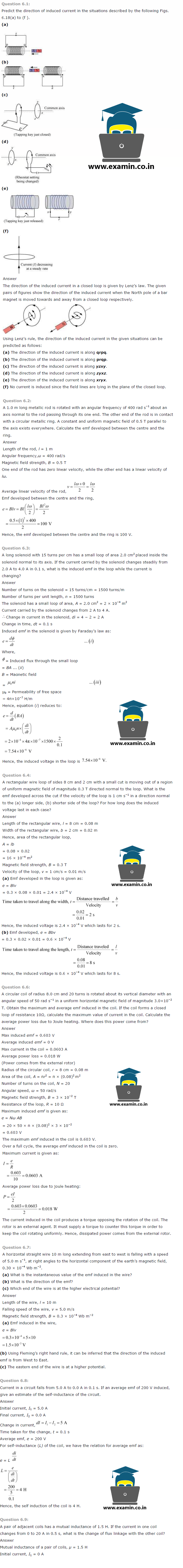 NCERT Solutions Class 12 Physics Chapter 6